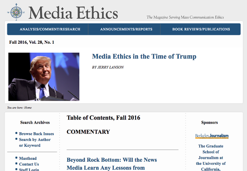 Live site: <a href='http://www.mediaethicsmagazine.com' target='_blank'>Media Ethics Magazine</a>